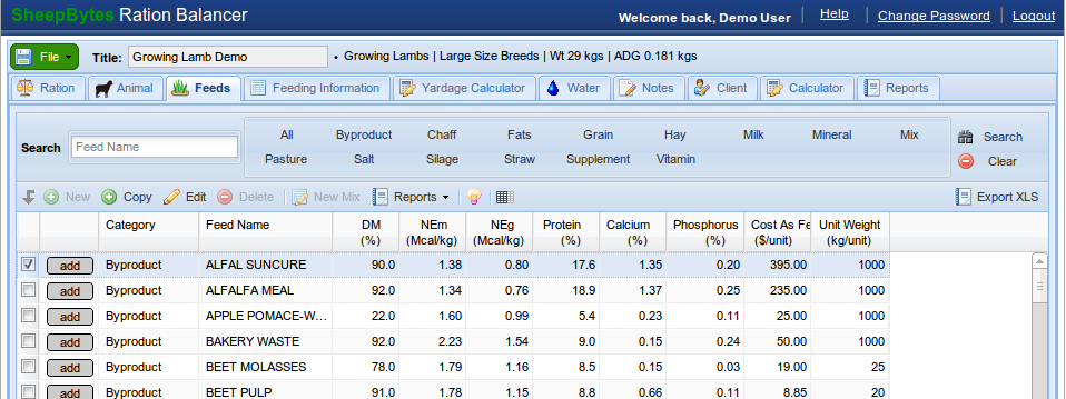 feed formulation software for mac